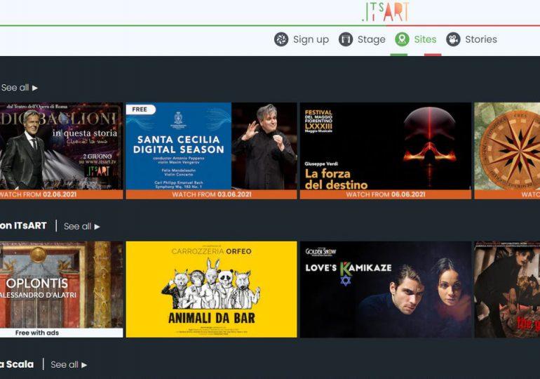 Italia lanza una plataforma digital de cine y cultura