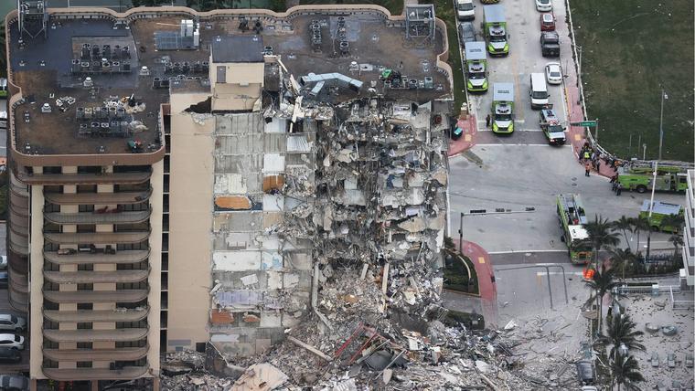 Más cadáveres hallados en derrumbe en Florida en el séptimo día de búsqueda