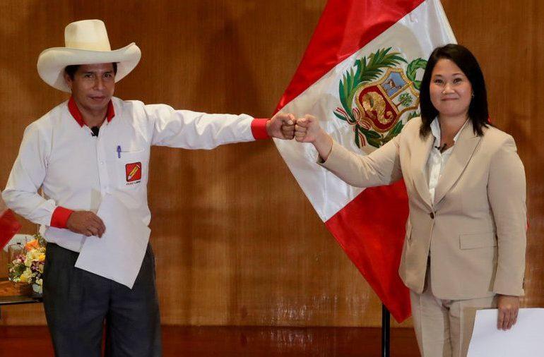 """""""Empate estadístico"""" entre Fujimori y Castillo en Perú"""