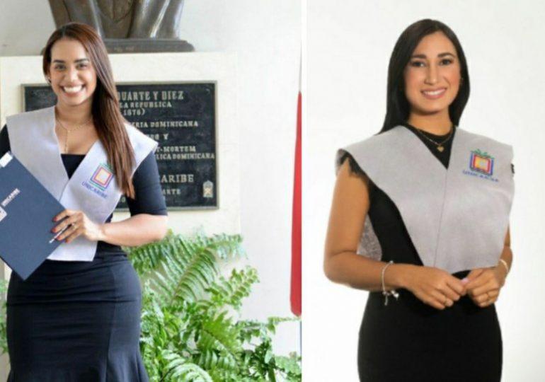 Betty Gerónimo y Fany Luna, nuevas graduadas de la universidad UNICARIBE