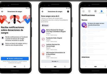 Facebook lanza herramienta para contactar con donantes de sangre en Colombia