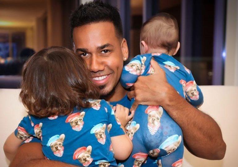 Romeo Santos muestra su lado paternal junto a sus hijos