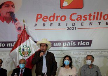 Candidato izquierdista Castillo rechaza llamados de la derecha a anular elecciones de Perú