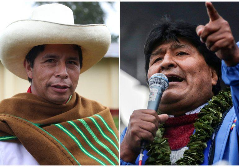Castillo se da por vencedor en Perú y recibe saludo de Evo Morales