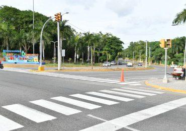 INTRANT y alcaldía SDN habilitan sistema semafórico en la Jacobo Majluta con av. Mirador Norte