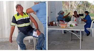 Minera Belfond vacuna empleados contra el Covid-19 en Barahona