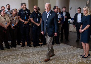 Biden brinda consuelo en Florida donde operación de rescate se suspendió por seguridad