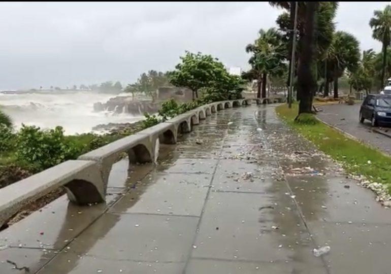 ADN comunica cierre del malecón de Santo Domingo por tormenta tropical Elsa