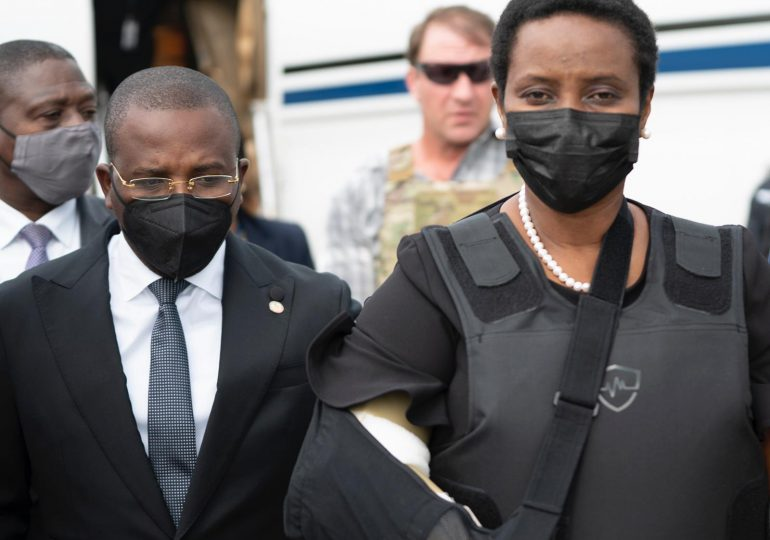 VIDEO | Martine Moïse regresa a Haití tras tratar sus heridas en EEUU