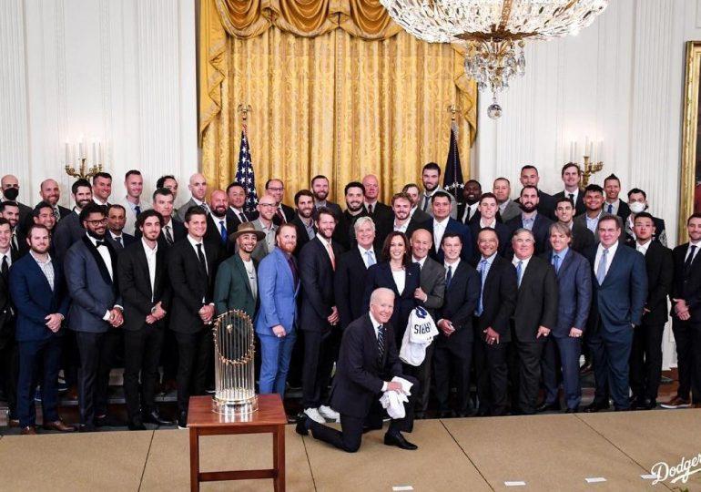 Dodgers, primer equipo al que Joe Biden recibe en la Casa Blanca