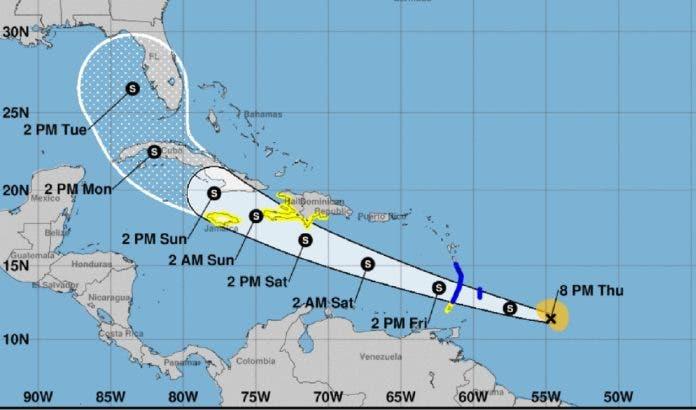 Huracán Elsa provocará lluvias desde media mañana, tarde y noche de hoy, dice Onamet