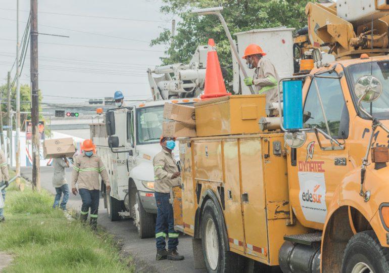 Edesur inicia iluminación en San Cristóbal