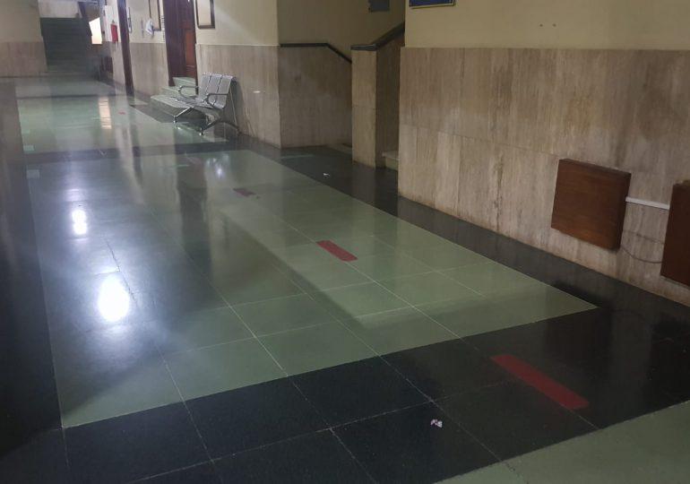 Desolado está el Palacio de Justicia, donde guardan prisión implicados en Operación Medusa