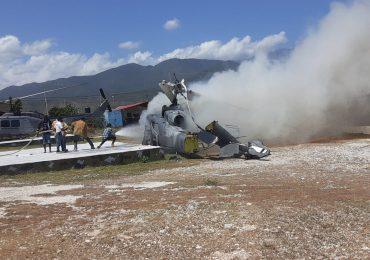 Helicóptero de la Fuerza Aérea dominicana se accidenta en Jimaní sin víctimas humanas