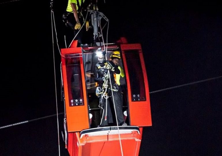 Realizan simulacro de evacuación de rescate en Teleférico de SD y el Metro