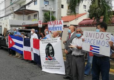 Organizaciones de izquierda se manifiestan en contra de protestas en Cuba