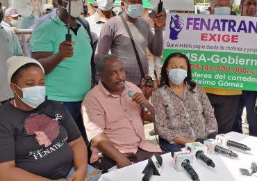 VIDEO | Transportistas vuelven a manifestarse frente al Palacio Nacional exigiendo pago de deuda millonaria