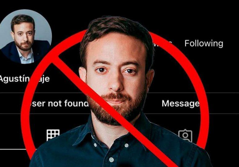 Agustín Laje denuncia le censuraron su cuenta de Instagram