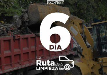 Concluye día seis de ruta de limpieza en calles de SDE