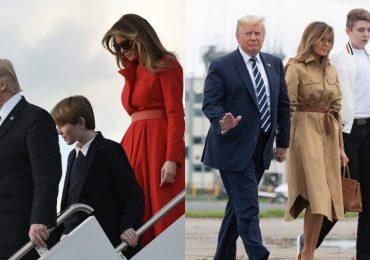 Barron, hijo adolescente de Donald Trump causa sensación por su altura
