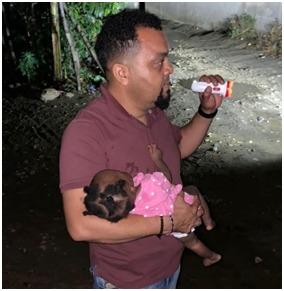 Encuentran niña sana y salva raptada por padrastro en Montecristi