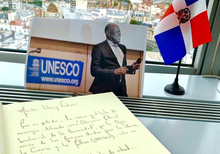 RD-UNESCO abre libro de condolencias en homenaje a Johnny Ventura