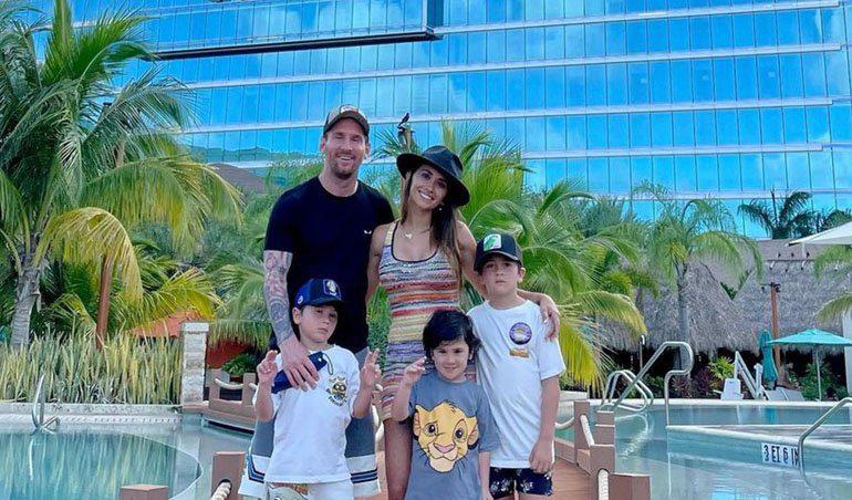 Leo Messi sigue disfrutando de sus vacaciones en Casa de Campo