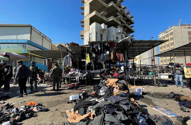 Explosión de una bomba deja al menos 18 muertos en un mercado de Bagdad