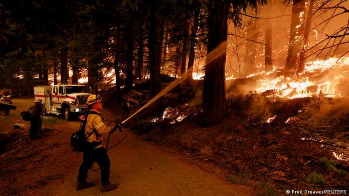 Incendio forestal obliga a evacuar destino turístico de EEUU