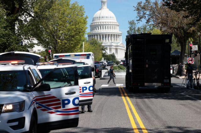 Se rinde el hombre que amenazó con detonar bomba cerca del Capitolio de EEUU