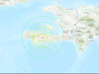 Emiten alerta de tsunami luego de fuerte sismo en Haití