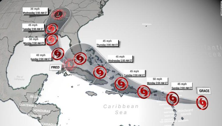 Depresión tropical Grace provoca intensas lluvias en el país, informa Onamet