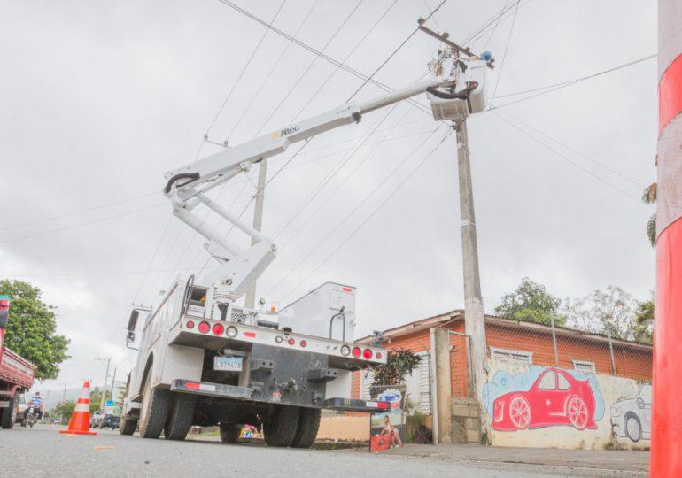 Edesur restablece el servicio a más del 99% de sus clientes afectados por tormenta Fred