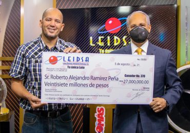 Empleado de naviera resulta ganador de RD$27 millones en Leidsa