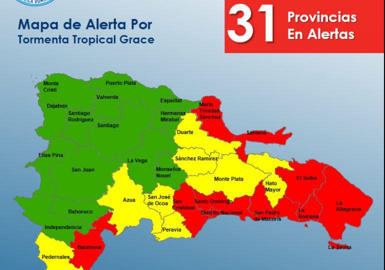 Hay nueve provincias en alerta roja por Grace, mira cuáles son