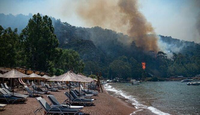 Incendios en Turquía amenazan un central termoeléctrica