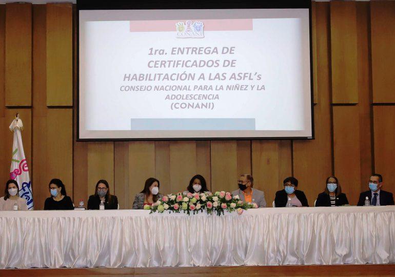 CONANI certifica organizaciones que trabajan por la niñez y la adolescencia