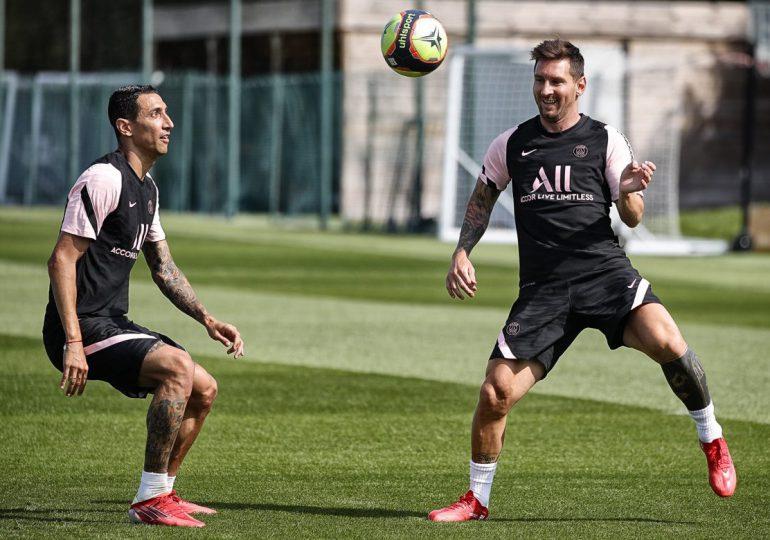 Messi participa en su primer entrenamiento con el PSG