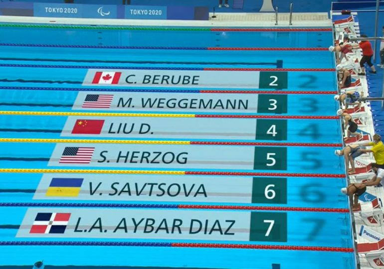 Alejandra Aybar culmina sexto en 100 metros pecho en Juegos Paralímpicos
