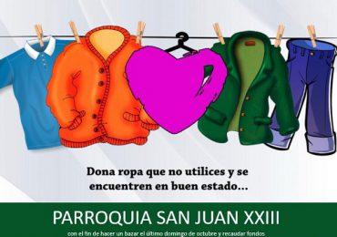 Parroquia San Juan  XXIII invita a donar ropa para quienes más lo necesiten