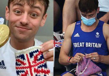 Tom Daley, el medallista de oro olímpico es tendencia por tejer en los JJOO Tokio 2020