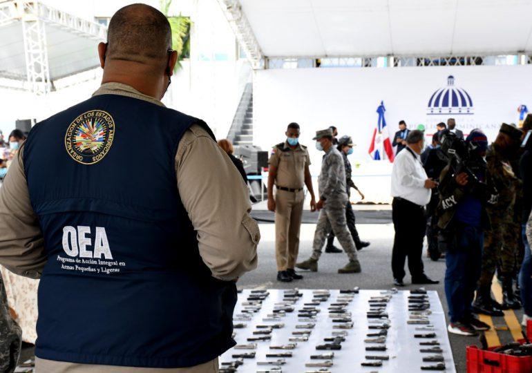 La OEA concluye proceso de destrucción de armas realizado por Interior y Policía