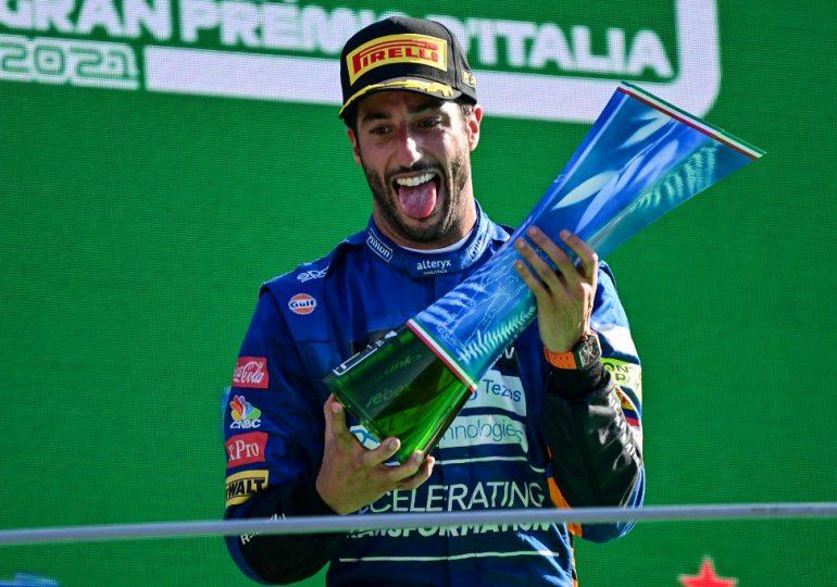 Daniel Ricciardo gana GP de Italia de F1 tras abandono de Verstappen y Hamilton