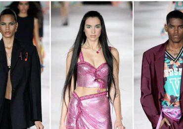Dua Lipa debuta como modelo en Milán y junto a ella dos dominicanos