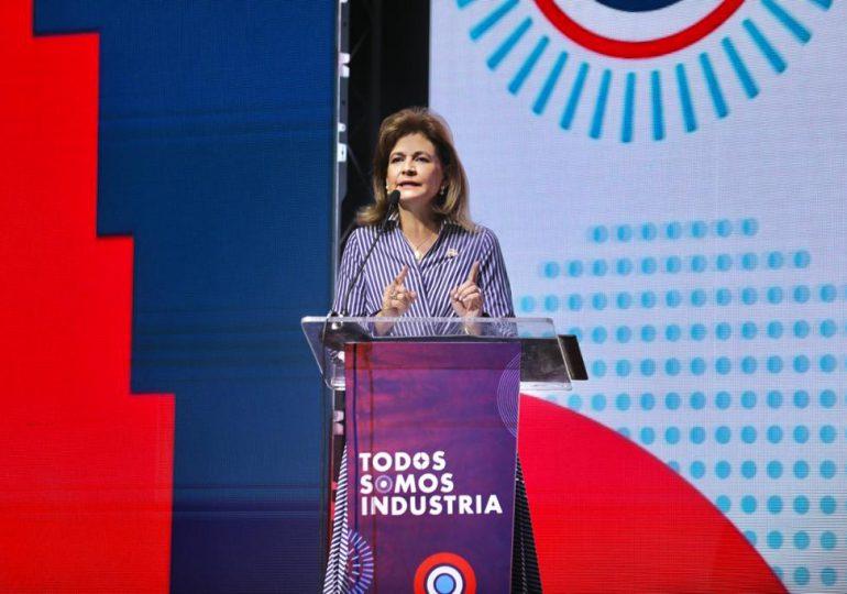 Vicepresidenta Peña destaca expansión de 14.3% del sector manufactura en la economía dominicana