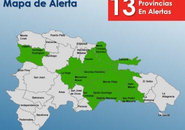 Elevan a 13 las provincias en alerta verde por vaguada