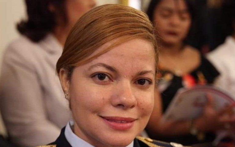 María Tejada, primera mujer en ser comandante del Escuadrón de Combate de la Fuerza Aérea