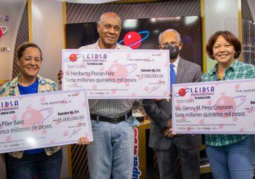 LEIDSA entrega RD$ 50 millones entre tres nuevos ganadores
