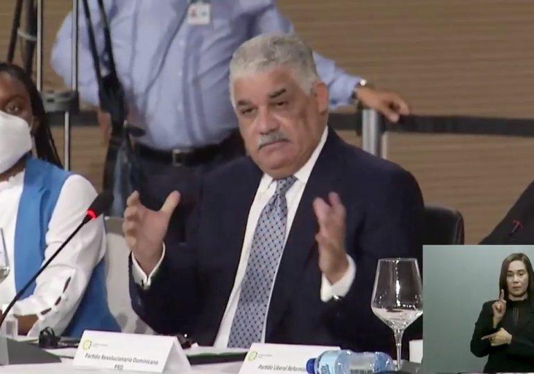 Miguel Vargas reafirma en el Diálogo Nacional el compromiso del PRD con la Seguridad Ciudadana