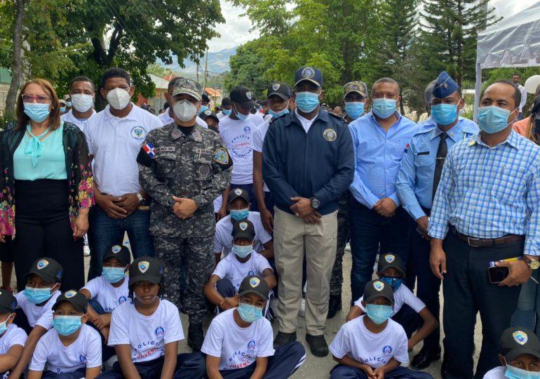 Policía Nacional integra niños y adolescentes al programa Policía Juvenil Comunitaria